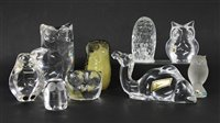 Lot 225 - A collection of glass figures