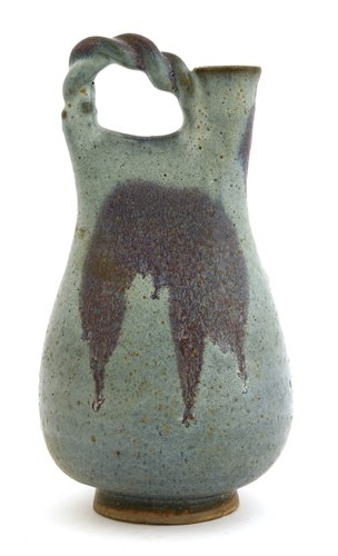 Lot 28-A Chinese Jun glazed pottery flask