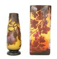 Lot 276 - A Gallé style slab vase