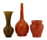 Lot 24-Three Burmantoft vases