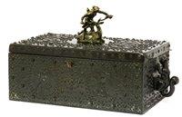 Lot 20-A Dunhill bronze humidor