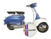 Lot 1-A Lambretta Innocenti 125 li Series Li motor scooter