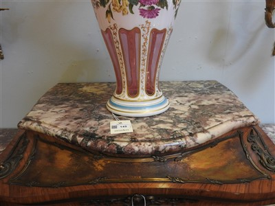 Lot 826-A French kingwood and gilt bronze-mounted vitrine