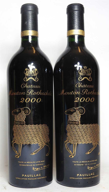 Lot 291 - Château Mouton Rothschild, Pauillac, 1st growth, 2000, two bottles