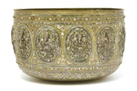 Lot 9-A large Burmese brass bowl