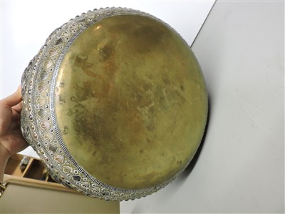 Lot 9 - A large Burmese brass bowl