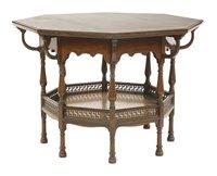 Lot 2-An octagonal mahogany centre table