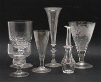 Lot 312 - A collection of 18th Century and later glass