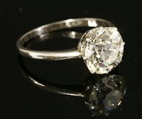 44 - A single stone diamond ring