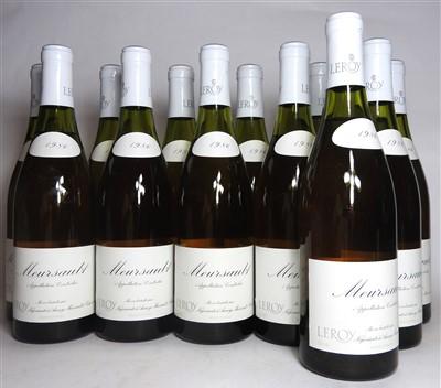 Lot 24-Leroy, Meursault, 1986, twelve bottles (boxed)