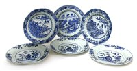 Lot 49-A collection of Chinese blue and white plates