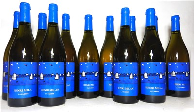 Lot 3-Henri Milan, La Carrée, Roussanne, 2010, twelve bottles (two boxes of six bottles)