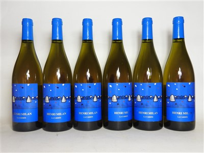 Lot 10-Henri Milan, La Carrée, Roussanne, 2010, six bottles (boxed)