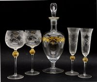 Lot 345 - A suite of Venetian glasses