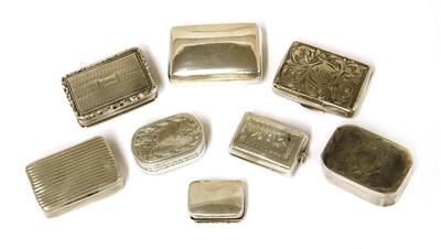 Lot 44-Eight Georgian and Victorian silver vinaigrettes