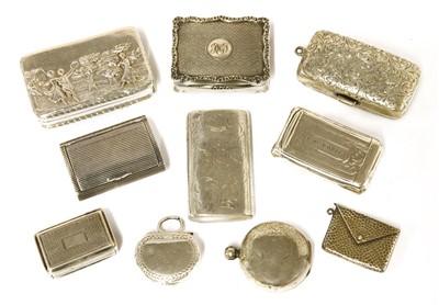 Lot 46-Ten silver boxes