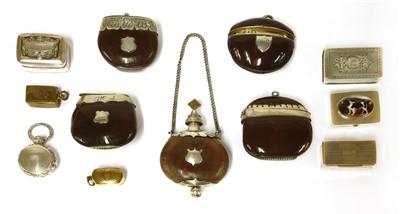 Lot 47-Four nut vesta cases