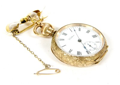 Lot 11-A 9ct gold Waltham fob watch