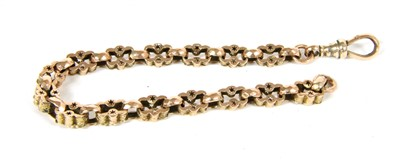 Lot 13-A gold fancy faceted belcher and pierced link bracelet
