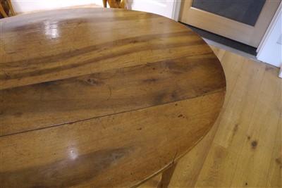 Lot 513-A French Provincial walnut farmhouse table