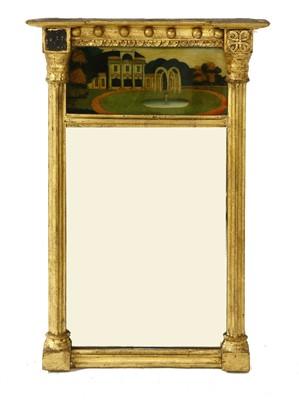 Lot 540-A Regency giltwood and verre églomisé mirror