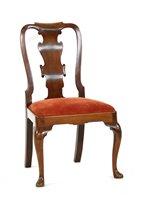 Lot 541-A George II walnut dining chair