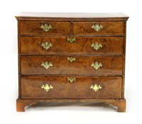 Lot 542-A Queen Anne figured walnut chest