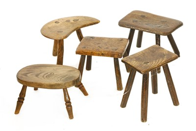 Lot 537-A stained elm child's stool