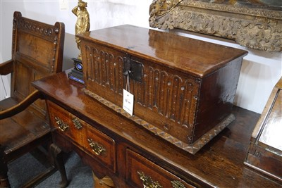 Lot 503-An oak box