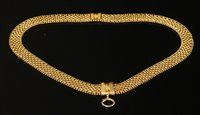 Lot 25-A Victorian three row panther style necklace