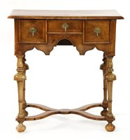 Lot 504-A walnut lowboy