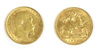Lot 39A-Coins, Great Britain, Edward VII (1901-1910)
