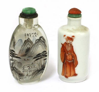 Lot 335 - Two Chinese snuff bottles