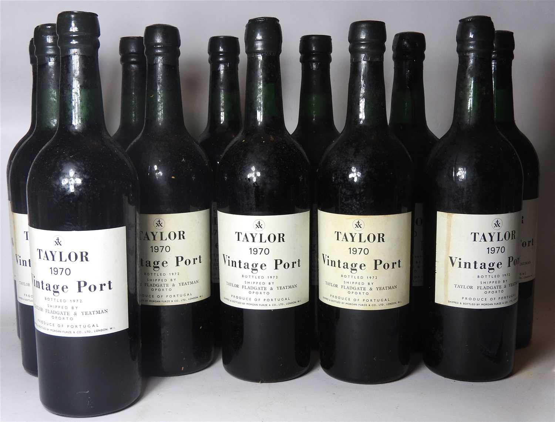 Lot 73-Taylor, 1970, bottled 1972, twelve bottles (boxed)