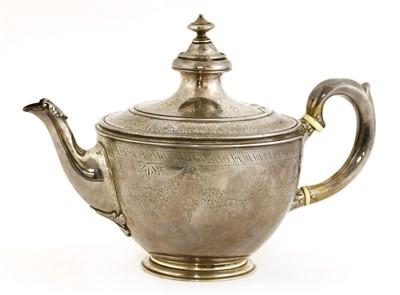 Lot 5-A Victorian silver teapot