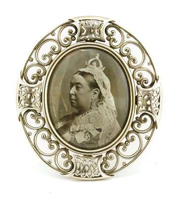 Lot 57 - Royal Interest:  A rare silver picture frame