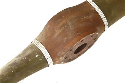 Lot 716 - A First World War wooden propeller