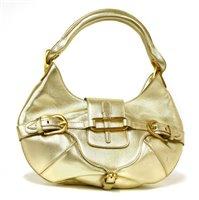 Lot 755-A Jimmy Choo metallic gold leather Tulita hobo handbag