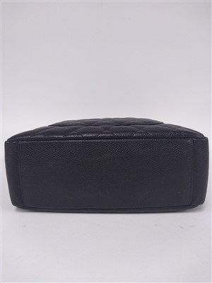 Lot 741 - A Chanel black Caviar Petit shopping tote PST