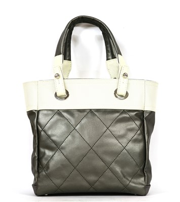 Lot 748-A Chanel coated canvas Paris Biarritz tote handbag