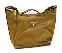 Lot 758-A Prada metallic canvas mini shopper handbag