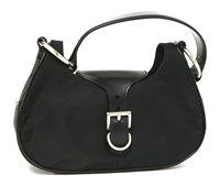 Lot 756-A Prada black canvas and leather handbag