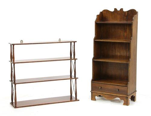 Lot 523-A set of mahogany wall shelves