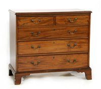 Lot 524-A George III mahogany chest