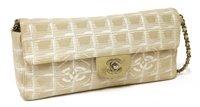 Lot 751-A Chanel New Travel chain flap handbag