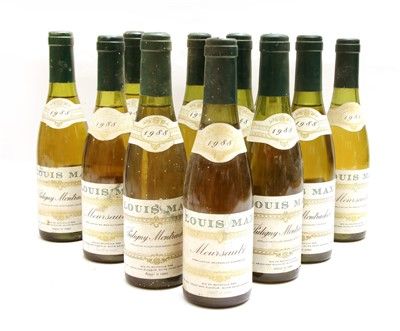 Lot 14-Assorted Louis Max, 1988: Puligny-Montrachet, nine half bottles and Meursault, two half bottles
