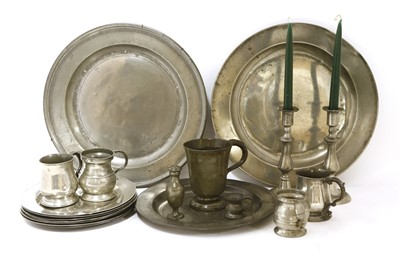 Lot 517-18th/19th century pewter