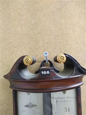 Lot 19-A George III stick barometer