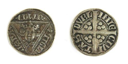 Lot 5-Coins, Ireland, Edward I (1272-1307), Penny, Group Ib, 1279-84, Dublin Mint - CIVITAS DUBLINIE