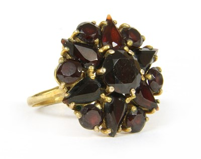 Lot 7-A 9ct gold garnet cluster ring
